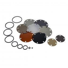 picture of spare parts with o-rings and diaphragms
