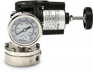 Manual Pressure Controller - photo of Model 10 Forward Pressure Reducing Regulator to manually control your reference pressure