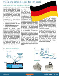 photo of Cover EVR Vacuum Series Installation and Maintenance Guide (German)