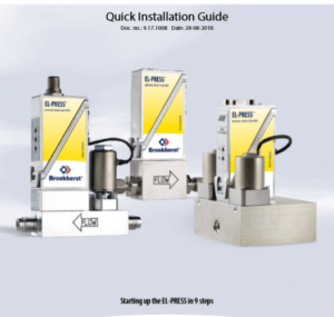 Cover Bronkhorst PPC Quick Installation Guide